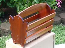 AUSTRALIAN CEDAR MAGAZINE HOLDER--SOLID CONSTRUCTION Sapphire Beach Coffs Harbour City Preview