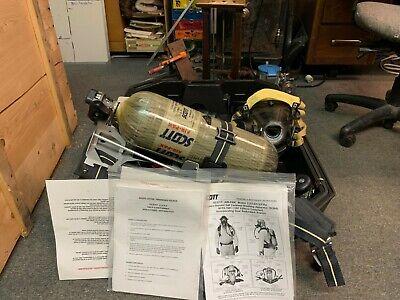 Scott Air-pak 4.5 Scba 60 Min Emergency Respirator Full Face Mask And Backpack