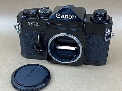 Canon F1 Black 35mm Film Camera Body - Works Great