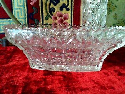 Vintage Clear Glass Bowl Soviet Retro Glass Table Decoration Serving Salad Candies Dessert Bowl Small Clear Glass Bowl with Leaves Design