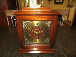 Welby 12 Carriage Mantel Clock Westminster Chime Hermle 350-060 Movement EXC