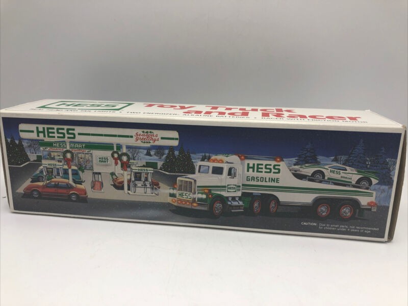 NIB HESS 1991 Toy Gasoline Truck and Racer Head Tail Lights
