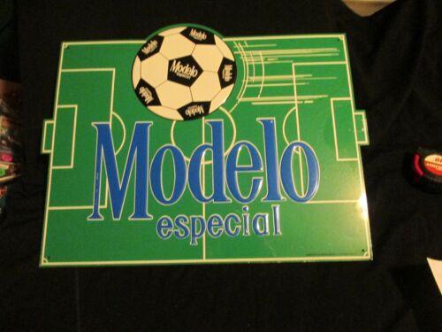 Embossed Modelo Especial Metal Beer Sign man-cave bar