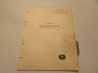 John Deere Pc-697 Bulldozer Blade 622 Parts Catalog Manual