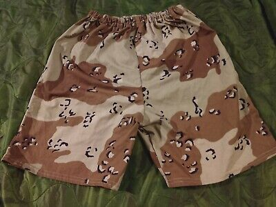 "Unusual Custom Chocolate Chip Camo (US 6-Color Desert) Shorts, size ""Medium"""