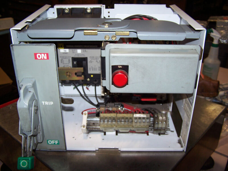 SQUARE D SIZE 1 MCC MOD 6 BUCKET WITH 15 AMP BREAKER FH36015 8536SC03H209S