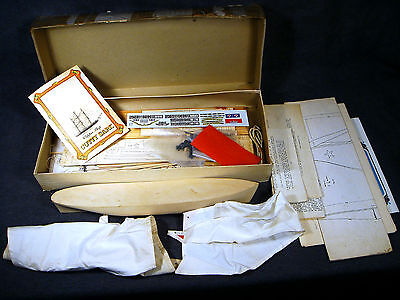 Vintage Scientific Cutty Sark Sailing Ship Wood Wooden Construction Kit