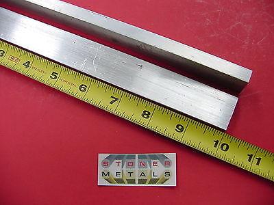 2 Pieces 38 X 1 Aluminum 6061 Flat Bar 10 Long .375 Solid New Mill Stock