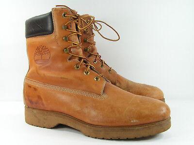 vintage timberland boots mens 12 W brown camel hiking work mountain bike fashion