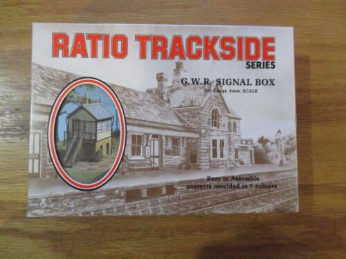 Ratio Trackside G.W.R. Signal box 00 Gauge 4mm Scale Ref. No. 500 w Free ship!
