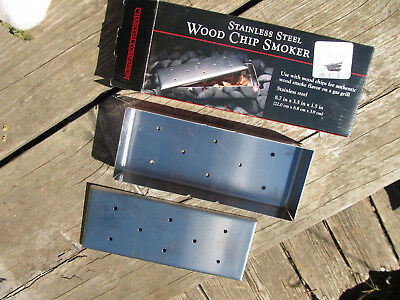 Charcoal Companion Stainless Steel wood chip smoker Sz 8.7 in x 3.5 in x 1.5 in
