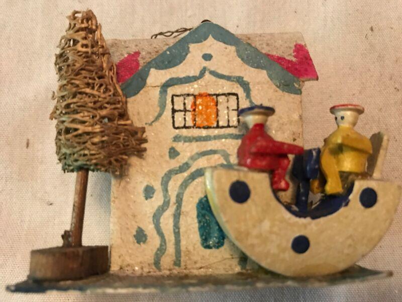 Christmas Vintage Cardboard Cottage
