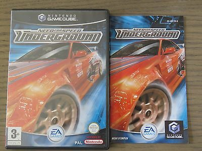 JEU NINTENDO GAMECUBE  NEED FOR SPEED UNDERGROUND  COMPLET  GAME CUBE ,