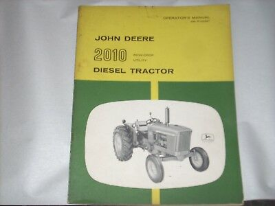 Original Operators Manual John Deere 2010d Row Crop Utility Tractor