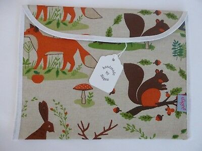Baby Health Red Record Book Holder - Woodland Animals - Shower Gift - BNWT
