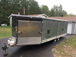 Enclosed Heated Sled trailer