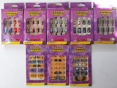 Halloween Multi Design Fashion Glue Nail & Polish Art Wrap Variety Skull Pumpkin - Design Nails Halloween