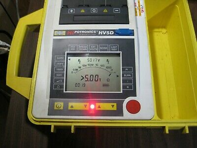 Hipotronics Hubbell Avo Megger Hv5d Digital Insulation Tester