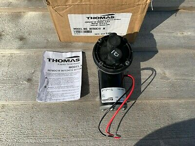 New Thomas Diaphragm Vacuum Pump Model 007cdc19 12vdc 3.4a 23hg Free Shipping