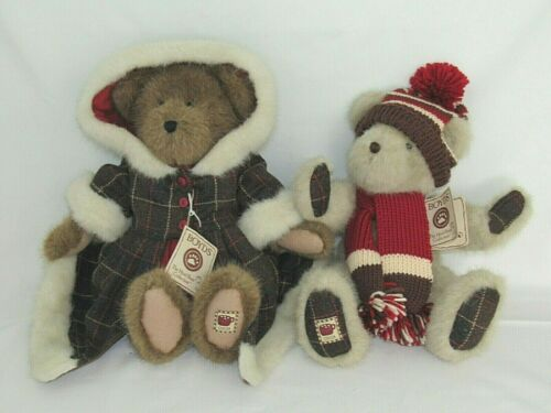 """SET BOYDS BEARS CHANELLE & MALLOW COCOBEARY 15"""" HOLIDAY WINTER THEME"""