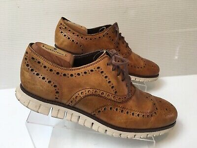 Cole Haan ZeroGrand Wingtip Shoes British Tan Leather Size 11M C14493