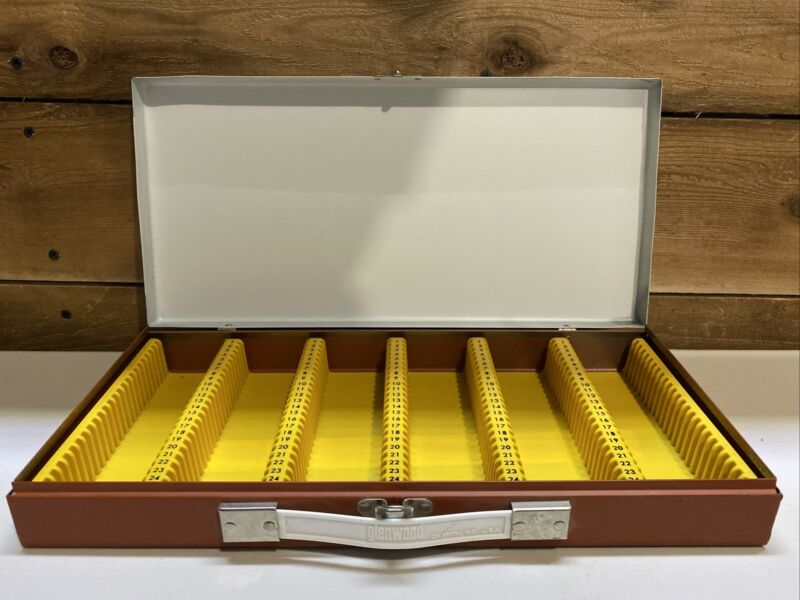 Vintage glenwood Metal Slide File Case Sorter for 150 slides