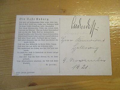General Erich Ludendorff original Autogramm ? auf alter AK Coburg 1921