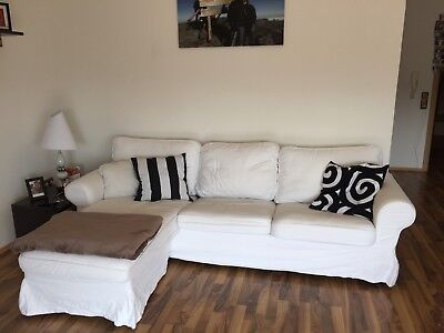 IKEA Couch ,weiß, in L-Form,