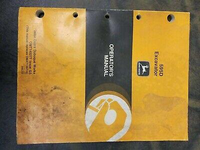John Deere 595d Excavator Operators Manual