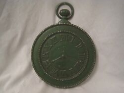 vintage large wall decor Roman Numeral faux clock stopwatch metal  MIDWEST TS-6