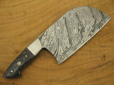 Chef Cleaver Meat Damascus Forged Handmade Chef Knife Best Gift for