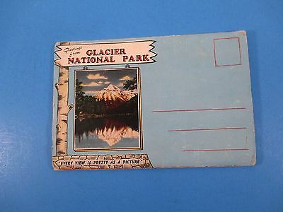 Vintage Souvenir Postcard Folder Glacier National Park Pretty As A Picture S3035