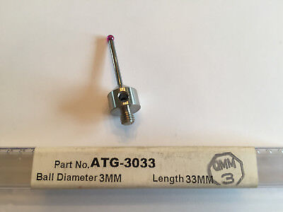 Q-mark M5 Stylus 3.0 Mm Ruby Ball Carbide Cmm Zeiss Renishaw Probe Atg-3033 New