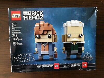 Lego Brick Headz 41631 Newt & Gellert Fantastic Beasts New box slightly dented