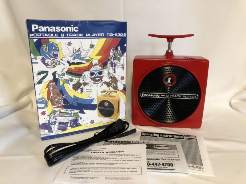 Panasonic,  TNT,  8 Track Player,  Red Serviced,  30 day Warranty  RQ 830s