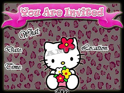 Hello Kitty Birthday Party Invitations - Hello Kitty Party Invitations with matching envelopes, birthday, 12pack