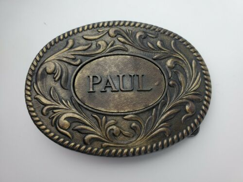 "Vintage 1977 Belt Buckle with Name ""Paul"" The Kinney Co."
