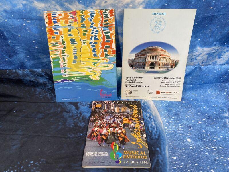 Royal Albert Hall Concert Programme 1999 & Henley Festival Programs Bundle
