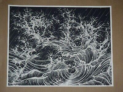 Fingerwaves Brandon Holt signed art print poster Vacvvm heathenlegs Aaron Horkey for sale  USA