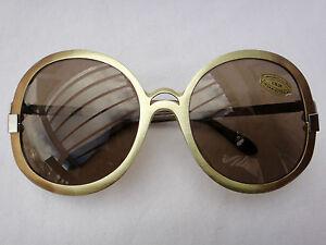 Vintage-NEOSTYLE-Dos-Tonos-Marco-anos-70-Gafas-de-sol-Lentes-Marrones-Hecho-en-Alemania