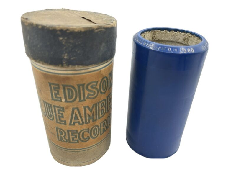 Edison Blue Amberol Record Cylinder 1960 Boston Commandery March Concert Band