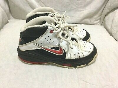 ca210b88d66 NIKE FLEX BASKETBALL SHOES- WHITE   BLACK   RED - ( SIZE 1 Y ) YOUTH