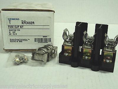 Siemens Kfck62r Rejection Type Fuse Clip Kit 250v 60a  New In Box