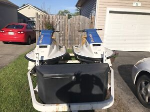 2 seadoos and trailer for sale
