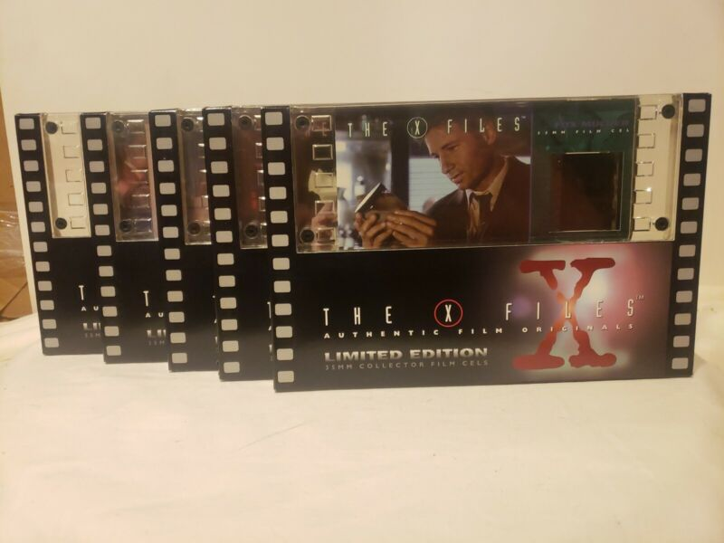 NEW LOT 5 X-FILES AUTHENTIC FILM LIMITED EDITION 35MM FILM CELLS FS MULDER FOX