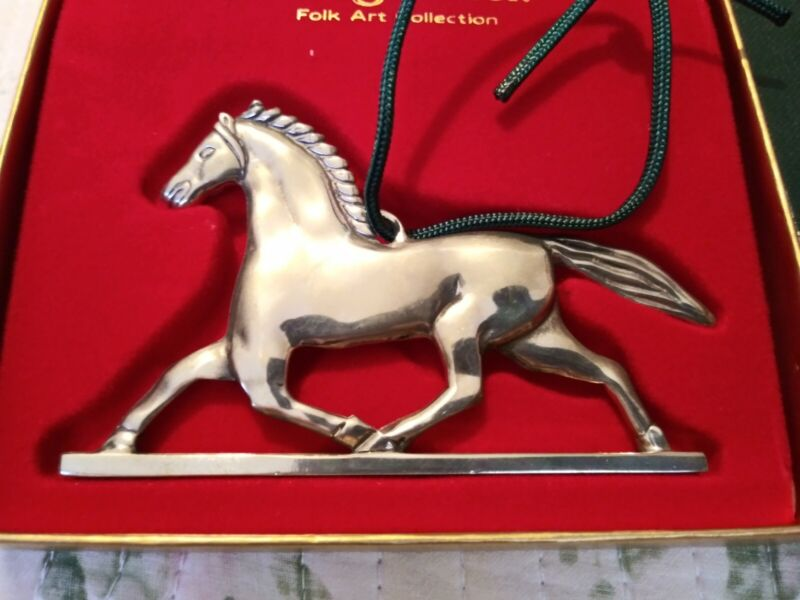 Reed & Barton Pewter Horse Weathervane Ornament P871 w/ Box