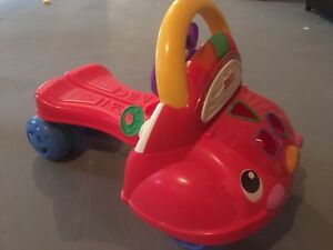Fisher price ride on car and walker