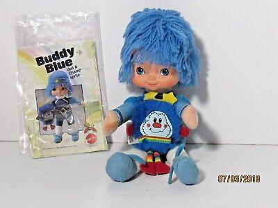 Vintage 1983 Rainbow Brite Buddy Blue Doll Champ Sprite Manual Hallmark Mattel