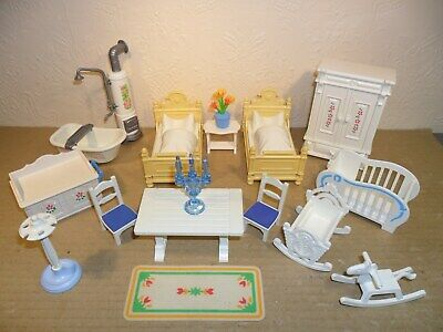 PLAYMOBIL VICTORIAN DOLLS HOUSE FURNITURE (Cupboards,Beds,Cots,Bath,Table)
