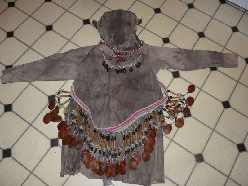 BORA PERU AMAZON INDIAN  MONKEY DANCE COSTUME AND REGALIA- RARE!!